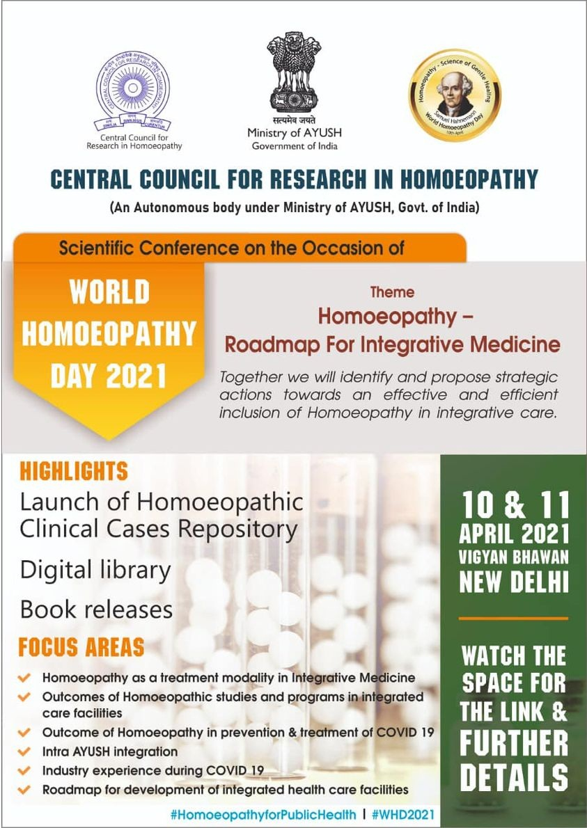 World Homoeopathy Day 2021