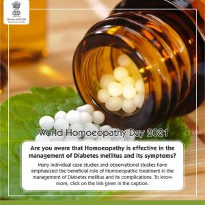 Ministry Of AYUSH Published Beneficial Role Of Homoeopathy In The Management Of Diabetes Mellitus