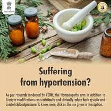 Ministry Of AYUSH Published Positive Effects Of Homoeopathic Medicine In Management Of Hypertension